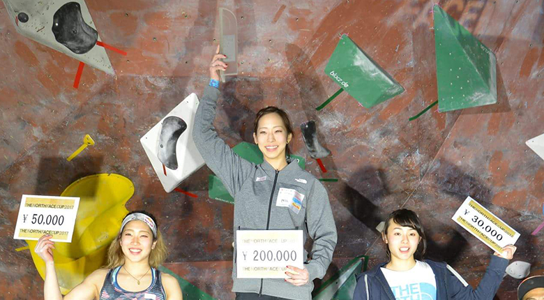 THE NORTH FACE CUP 2017女子は野口啓代、男子は楢崎智亜が初優勝!