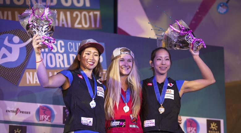 ショウナ・コクシーが年間女王に輝く。男子年間優勝争いは日本勢に暗雲/ボルダリングW杯2017第6戦 インド・ナビムンバイ大会