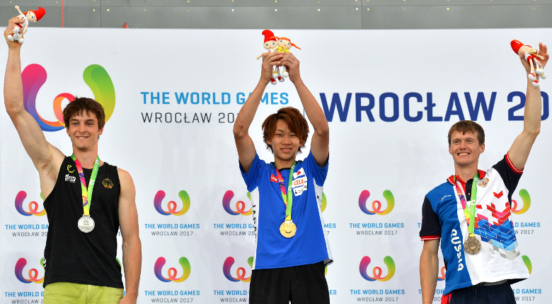 緒方良行が金、野中生萌が銀メダルを獲得/ワールドゲームズ2017 ヴロツワフ大会【ボルダリング】
