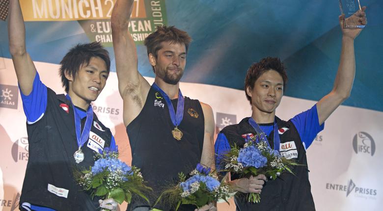 日本人3選手が最終戦を表彰台で締めくくる/ボルダリングW杯2017最終第7戦 ドイツ・ミュンヘン大会