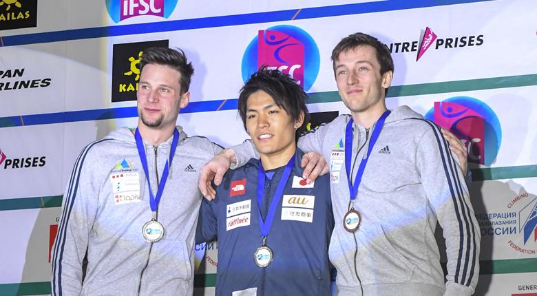 楢崎智亜、待望の金メダル!/ボルダリングW杯2018第2戦 モスクワ大会