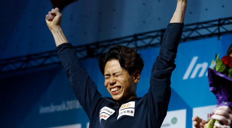 原田海、新たな世界王者に!/IFSCクライミング世界選手権2018【男子ボルダリング】