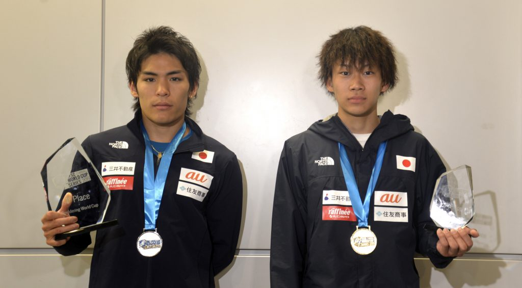 緒方「ずっと表彰台の真ん中で君が代を聞きたかった」。ボルダリングW杯最終戦を終え、日本代表が帰国