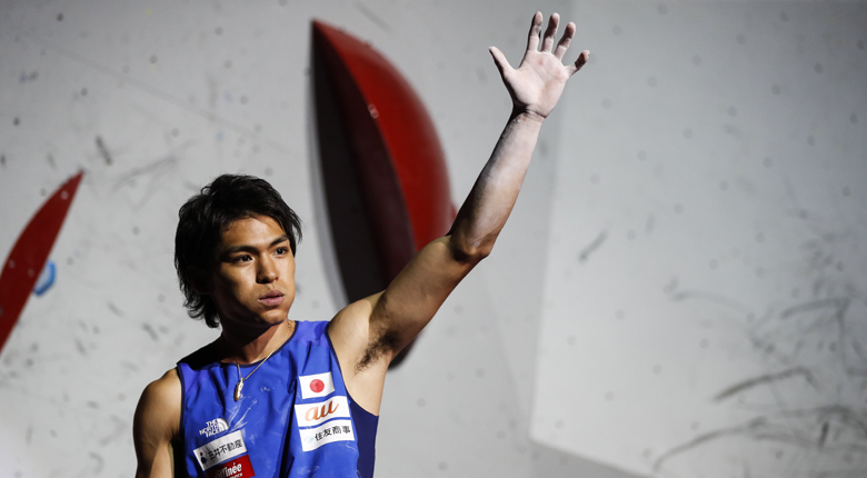楢崎智亜「一番大きな舞台で勝てたことが嬉しい」。コンバインド男子決勝後の選手コメント/IFSCクライミング世界選手権2019八王子