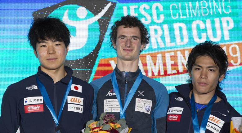 日本勢3名が表彰台に。本間、野口2位、楢崎智3位/リードW杯2019第5戦 廈門大会