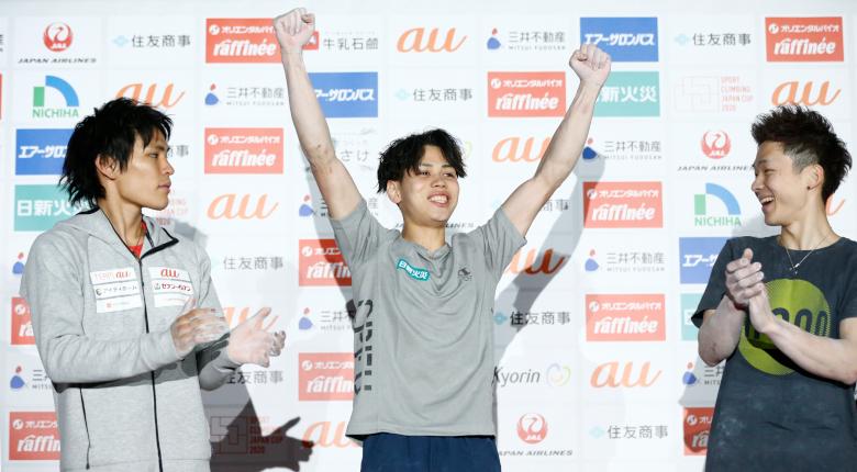 原田海が初優勝。世界に続き国内も制する ボルダリングジャパンカップ2020【男子決勝】