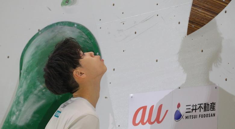 原田海「パーフェクトに近い登り」。男子予選後の選手コメント ボルダリングジャパンカップ2020
