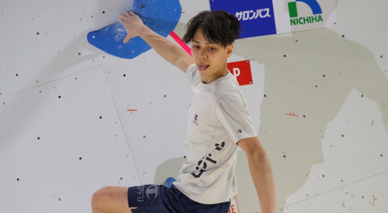 原田海が全完登で首位 ボルダリングジャパンカップ2020【男子予選】