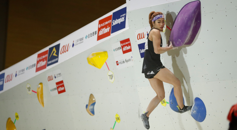 野中生萌が全完登で首位 ボルダリングジャパンカップ2021【女子予選】