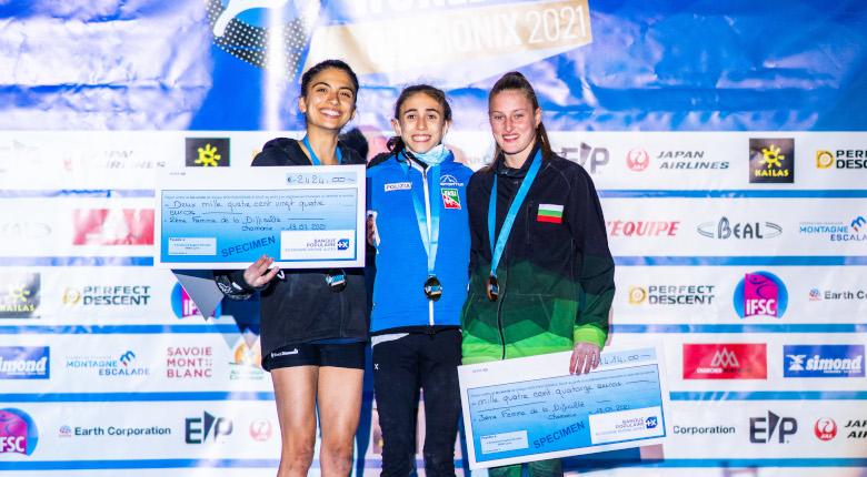 五輪代表・ロゴラが決勝唯一の完登を記録。男子はベイリーが2連勝/リードW杯2021第3戦 シャモニー大会