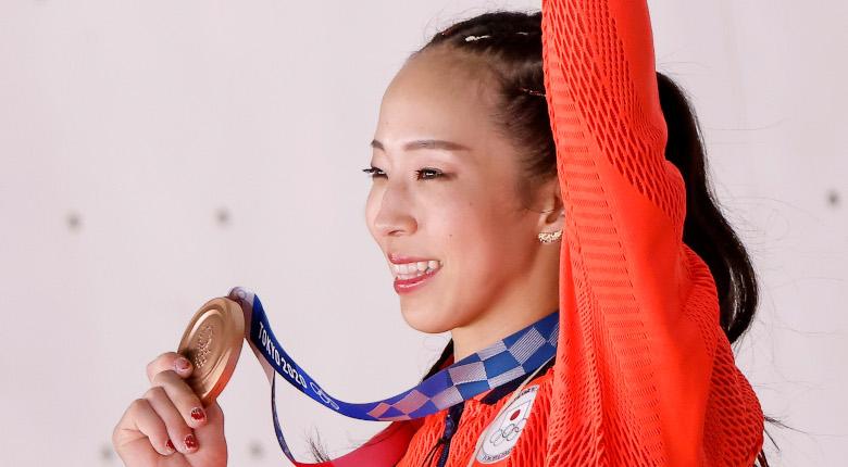 野口啓代の競技人生に幕。「最後まであきらめずに登れたので、良かった」【東京五輪 女子決勝】